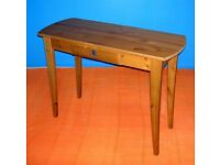 FURNITURE / SHABBY CHIC SOLID PINE WOOD HALL CONSOLE TABLE WITH DRAW