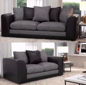 💥🔥💥Left/Right Hand Sides💥💥Brand New Jumbo Cord 'Double Padded' Byron Corner Or 3+2 Leather Sofa
