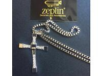 Dominic Toretto's Cross Pendant Men Necklace Vin Diesel Chain