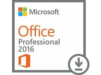 Microsoft Office Professional 2016 Plus Full version - 1 PC - E-mail delivery