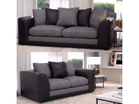 EXPRESS SAME/NEXT DAY DROP-New BYRON Jumbo Cord Corner or 3 and 2 Seater Sofa Suite --High Quality--