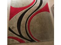 Red extra large mirage rug (230cm x 160cm)