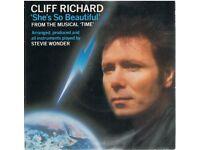 CLIFF RICHARD 11 X VINYL SINGLES. GOOD to EX+ CONDITION. FREE UK POSTAGE.
