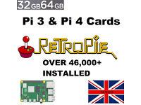 Custom Preloaded RetroPie SD Cards For Raspberry Pi 400 - 4 - 3 And Arcade Gaming Consoles For Sale!