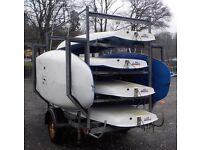 6 Topper Sailing Dinghys and Trailer