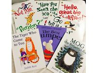 Bundle of 8 Classic Children's Books in excellent condition mog tiger who came to tea best jumper