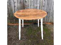 Vintage hardwood top , country dining table