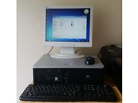 Hewlett Packard Compaq Desktop PC with Acer Monitor, Keyboard, Optical mouse & CD/DVD rewriter