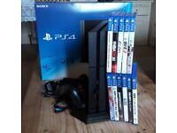 PS4 + 11 Games + Vertical Docking Station