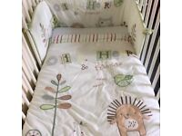 Olive, henri and friends cot bedding , curtains and stuff from babies r us