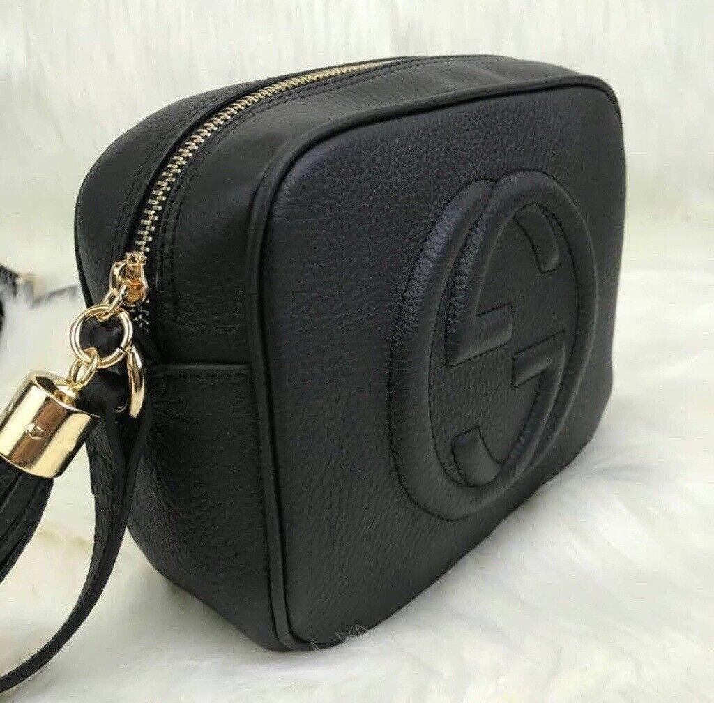 Women s GG Soho Disco Handbag Shoulder Bag Black Pink UK BNWT LV MK CC 97ef7eaedb6d3