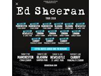 X2 Ed Sheeran Newcastle Standing Tickets