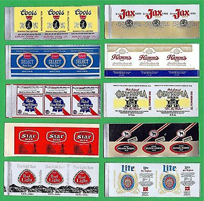 10 Mini Beer Sticker Labels Star Black Horse Jax Coors