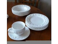 **FINAL PRICE DROP** NEW AND UNUSED M&S DINNER SERVICE WITH SERVING DISHES ETC