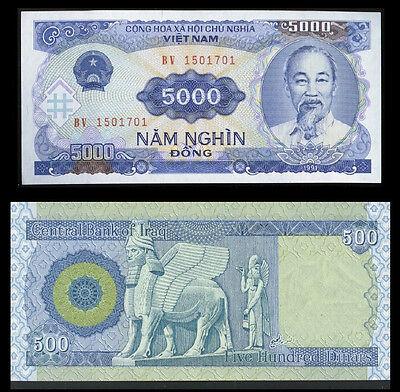500 Iraqi Dinar  +   Recieve 5000 Vietnamese Dong Free