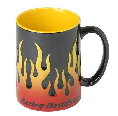 Harley-Davidson Motorcycle Sculpted Flames Coffee Mug 15oz Ceramic Cup HDX-98604