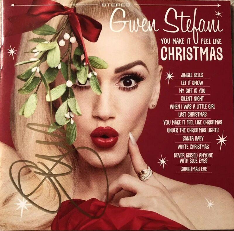 AUTOGRAPHED Gwen Stefani You Make It Feel Like Christmas Signed CD Booklet