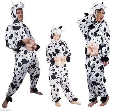 Kuhoverall Kuh Kühe Kostüm Overall Plüsch Milch Kuhkostüm Kleid Hose Frosch (Milch Kostüm)