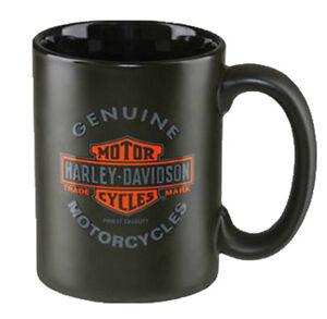 Harley-Davidson® 15oz Bar & Shield Motorcycles Black Coffee Mug Cup HDX-98606