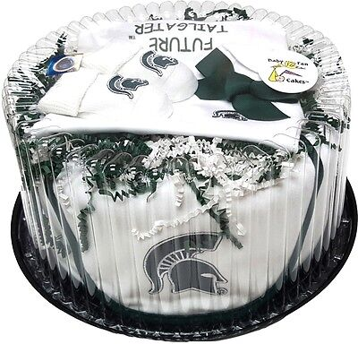 Michigan State Clothing (Michigan State Spartans Baby Fan Cake Clothing Gift)