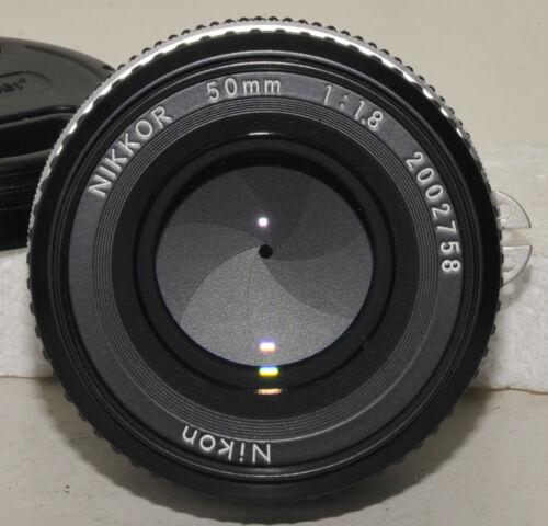 nice Nikon Nikkor 50mm f/1.8 AI manual focus lens (# 2002758) film and digital
