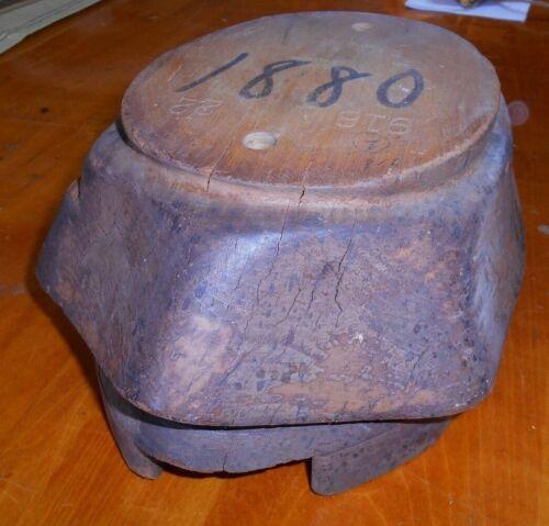 Antique cloche Excel hat block brim wooden form millinery mold