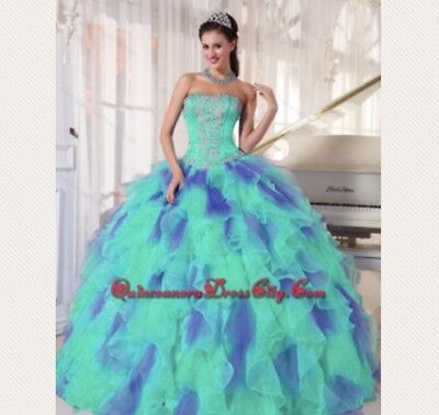 Purple and Mint Green Ball Gown/Quinceanera/Prom Dress](Purple And Mint Green)