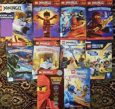 Lego Ninjago Scholastic Paperback Books ~ Lot of 10