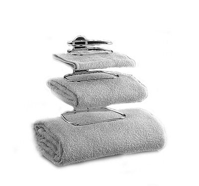 شماعة حمام جديد Hotel Towel Rack for Bathroom Shower Racks Holder Wall Mount Double Chrome Two 2