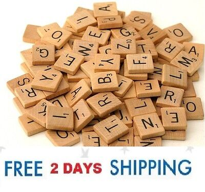 500 Scrabble Wood Tiles Pieces 5 Full Sets 100 Letters Crafts Pendants Spell