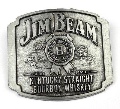 Jim Beam Bourbon Whiskey USA Belt Buckle Metall Gürtelschnalle Kentucky Straight