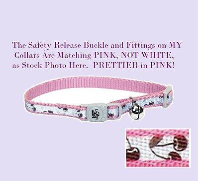 Coastal Pet Lazer Brite Cat Safety Cherries Collar Bell Pink Reflective (Coastal Lazer Reflective Collar)