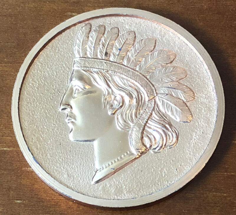 "Butte Montana Indian Head Penny Souvenir 3"" Wide 4.4 Oz. Heavy Duty Piece"