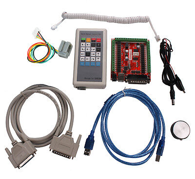 Cnc Usb Lpt Mach3 Cnc 6 Axis Stepper Motor Controller Manual Control Box Cnc Kit