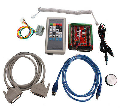 Usb Lpt Mach3 Cnc 6 Axis Stepper Motor Controller Manual Control Box Cnc Kit