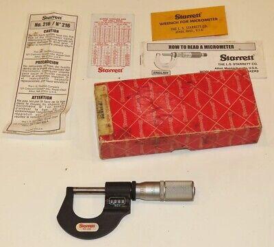 Starrett 216 0-1 Digital Micrometer W Box 216fl-1 Mint W Proto Standards