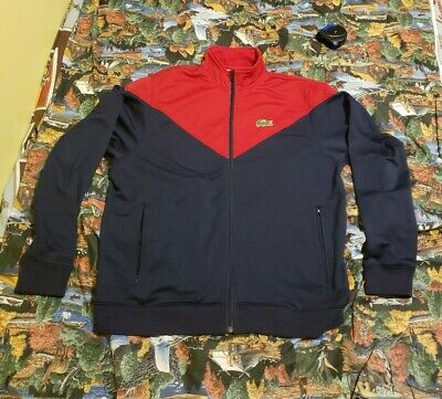 Lacoste Full Zip Bomber/Track Jacket Size 7 XL Color Block