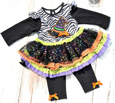 RARE EDITION Girls Halloween Outfit 6 & 9 Months 2 Piece Tunic Leggings New NWT