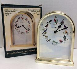 Howard Miller Songbirds of North America III Table Clock 645-405 Musical Chimes