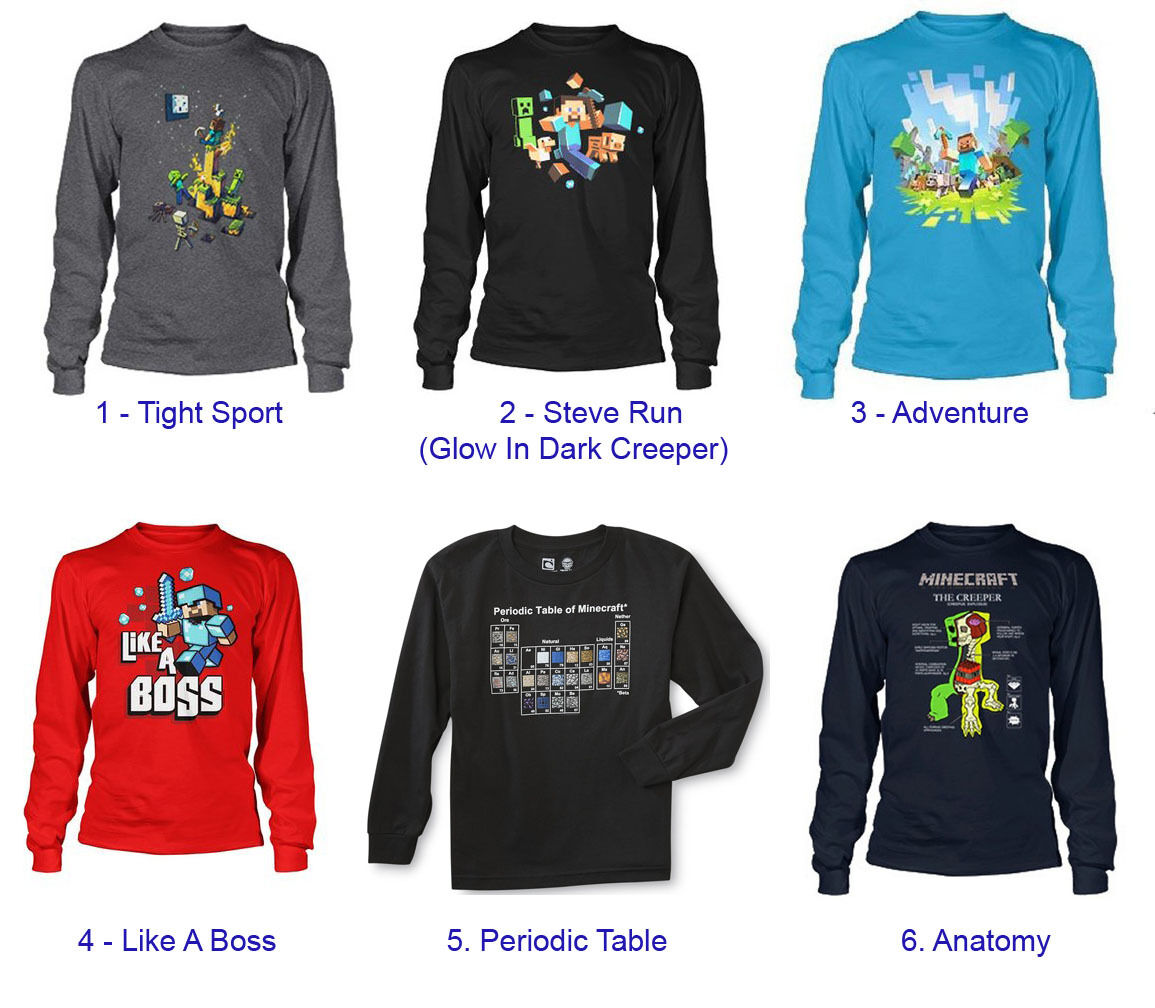 Authentic minecraft long sleeve youth kid shirt new jinx authentic minecraft long sleeve youth kid shirt new gamestrikefo Image collections