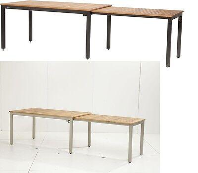 Bukatchi Ausziehtisch Tifosi Gartentisch Alu Teak Gartenmöbel ausziehbar Holz
