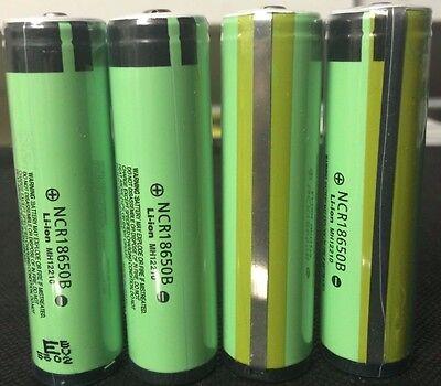 "Brand New ""4""  Panasonic NCR18650B 3400mAh 3.7V 18650 Protected PCB Battery"
