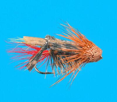 Dave/'s Hopper Foam Body #8 One Dozen Premium Big Y Fly Company Fishing Flies