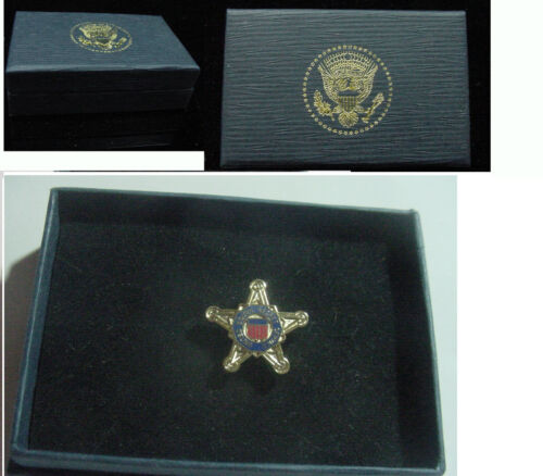 New  Presidential Secret Service Lapel Pin  -  Stars