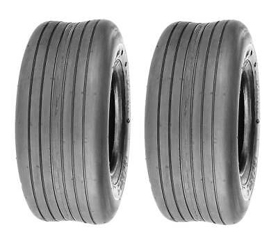 Pack of 2 Deli Tire 13 x 5.00 - 6 Smooth Rib, 4 Ply, Tubeless, Lawn Mower Tire