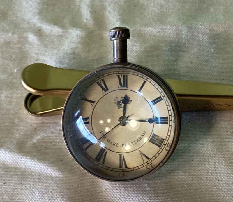 Vintage As Is Eye of Time Per Mare Per Terram By Sea By Land Watch Compass