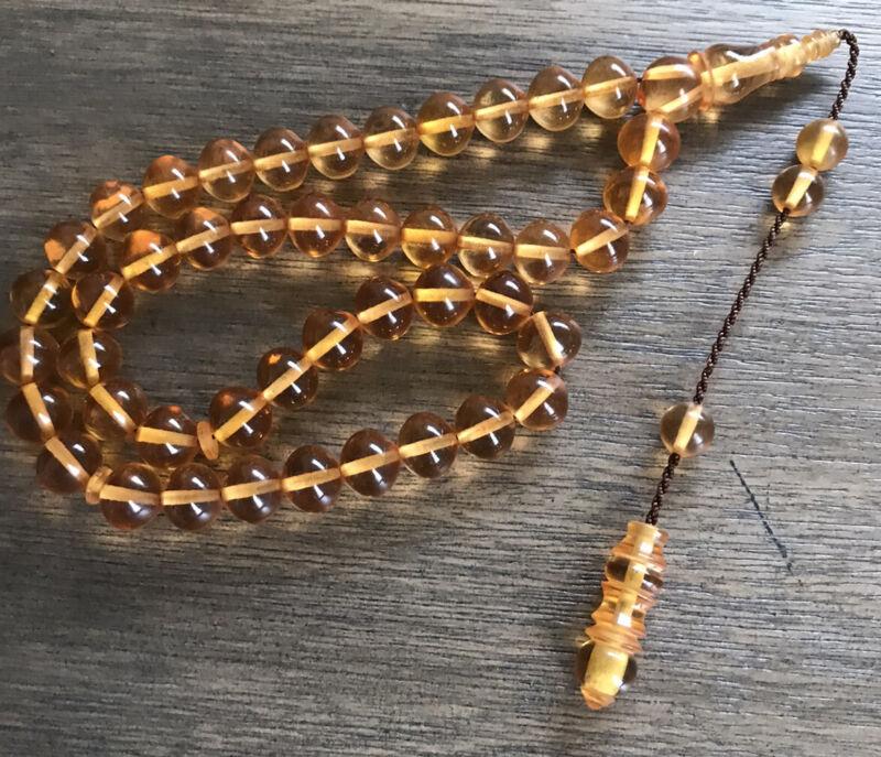 New Collectible Turkish Sandalos Amber Rosary 45 Beads سبحة مسبحة سندلوس
