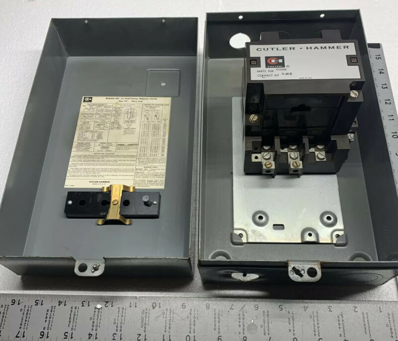 CUTLER-HAMMER Size 2 A-C A10 Full Voltage Magnetic Starter (3-Pole) *WARRANTY*