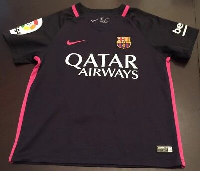 17e03585330a2 Lionel Messi 10 FC Barcelona Girls Kids Soccer Jersey Youth Size Large?  Qatar