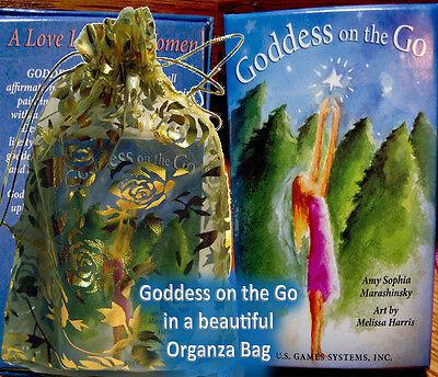 Goddess On the Go Oracle Cards Tarot Deck Affirmations + Bag  Melissa Harris NEW